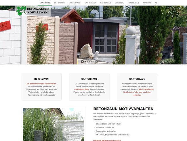Gartenbau Und Betonzaeune E Kowalewski